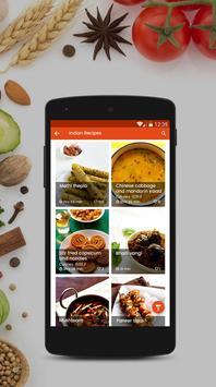 Indian Recipes Free Cookbook apk screenshot