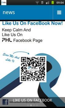 PHL mobile phone poster