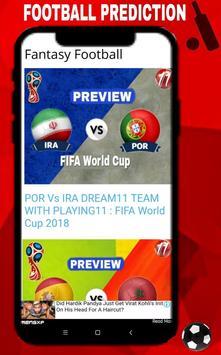Fantasy Expert11 - Dream11 & Halaplay Tips Fifa 18 تصوير الشاشة 6