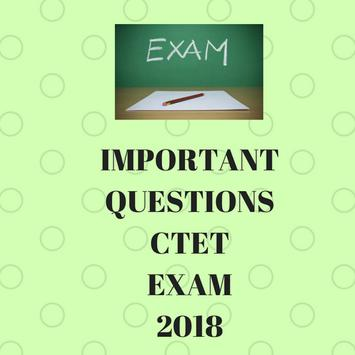 IMPORTANT QUESTIONS CTET EXAM 2018 poster