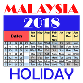 Malaysia Holiday Calendar 2018 icon