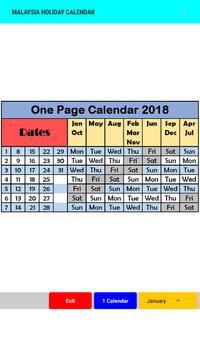 Malaysia Holiday Calendar 2018 screenshot 3