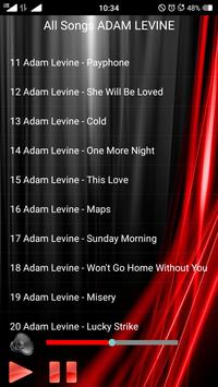 All Songs ADAM LEVINE apk screenshot