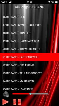 All Songs BIG BANG apk screenshot