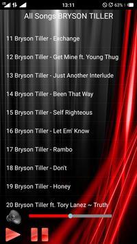 All Songs BRYSON TILLER screenshot 2