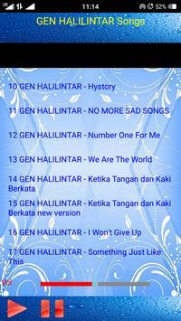 GEN HALILINTAR SONGS screenshot 2