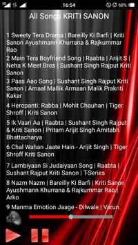 All Songs KRITI SANON screenshot 1