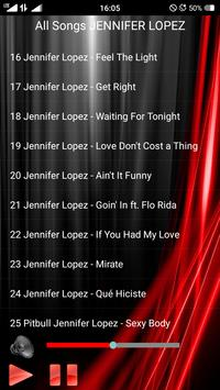 All Songs JENNIFER LOPEZ apk screenshot