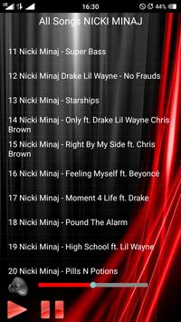 All Songs NICKI MINAJ apk screenshot