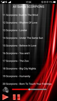 All Songs SCORPIONS apk screenshot