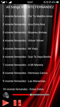 All Songs VICENTE FERNANDEZ apk screenshot