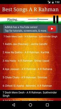 Best Songs A R RAHMAN apk screenshot