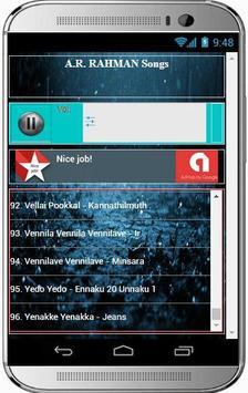 A.R. RAHMAN Super Hit Songs apk screenshot