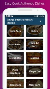 Durga Puja & Navratri Festival Food Recipe screenshot 1