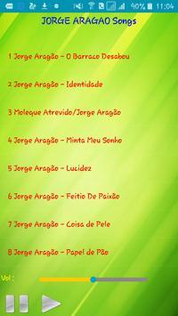 All song Jorge Aragão apk screenshot