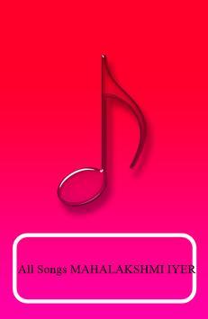 All Songs MAHALAKSHMI IYER poster
