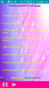 All Songs MAHALAKSHMI IYER apk screenshot