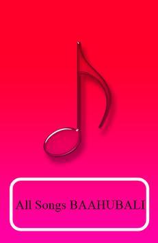 BAAHUBALI Songs poster