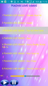 PUNJABI LOVE SONGS screenshot 2