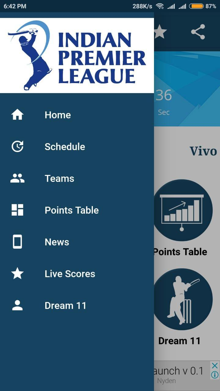 Vivo IPL 2018-Live scores Update & Schedules for Android - APK Download