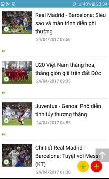 Bóng đá 24h - Video bàn thắng apk screenshot