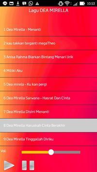 Lagu DEA MIRELLA apk screenshot