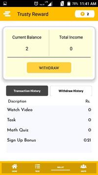 Trusty Reward screenshot 2