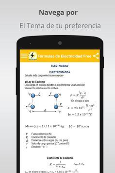Free Electricity Formulas screenshot 1