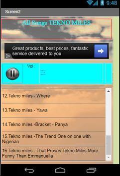 All Songs TEKNO MILES apk screenshot