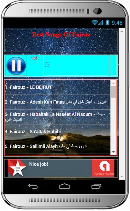 Download fairouz song mp3.