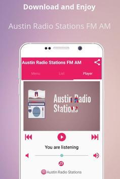 Austin Radio Stations FM AM poster