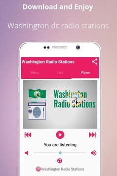 Washington dc radio stations FM AM poster
