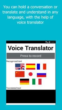 Voice Translator - Speak and Translate 7 languages APK Download ...Voice Translator - Speak and Translate 7 languages poster ...