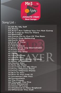 JONALYN VIRAY Best Songs Mp3 apk screenshot