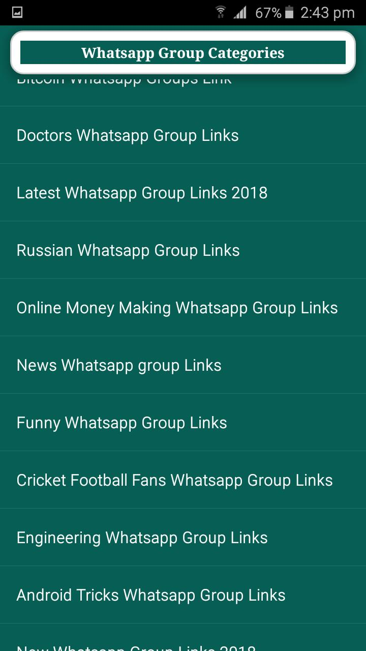 300 Whatsapp & Telegram Group Categories Link for Android - APK Download