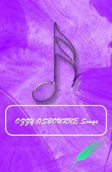 OZZY OSBOURNE SONGS poster