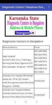 Diagnostic Centers Telephone Directory in india screenshot 6