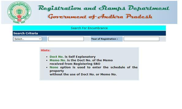 Encumbrance Certificate EC - CC Copy (TS-AP State) screenshot 1