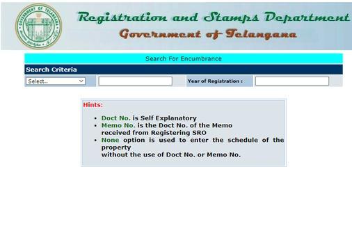 Encumbrance Certificate EC - CC Copy (TS-AP State) screenshot 2