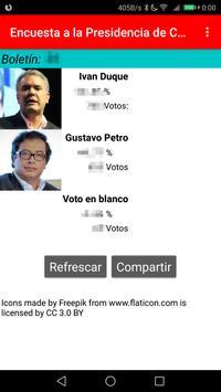 Encuesta a la presidencia de Colombia 2018 poster