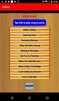 Adele songs with lyrics apk screenshot