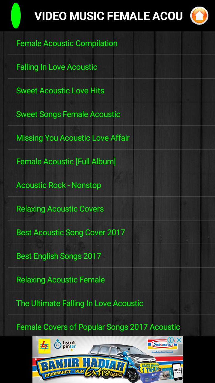 Video Music Female Acoustic Nonstop for Android - APK Download