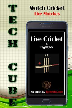 Live cricket sports poster