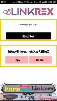 Linkrex Paid Url Shorteren screenshot 1