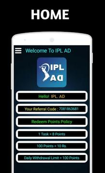 IPL AD - Earn Money apk screenshot