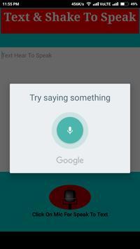 Shake To Speak apk screenshot