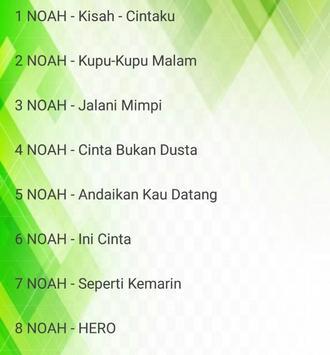 Lagu NOAH - Tak Lagi Sama - Cinta Bukan Dusta screenshot 1