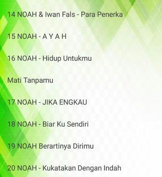 Lagu NOAH - Tak Lagi Sama - Cinta Bukan Dusta screenshot 2