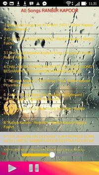 All Songs RANBIR KAPOOR apk screenshot