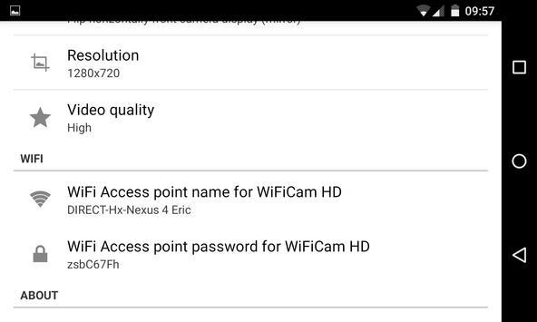 WiFiCam HD for VideoCoach screenshot 1